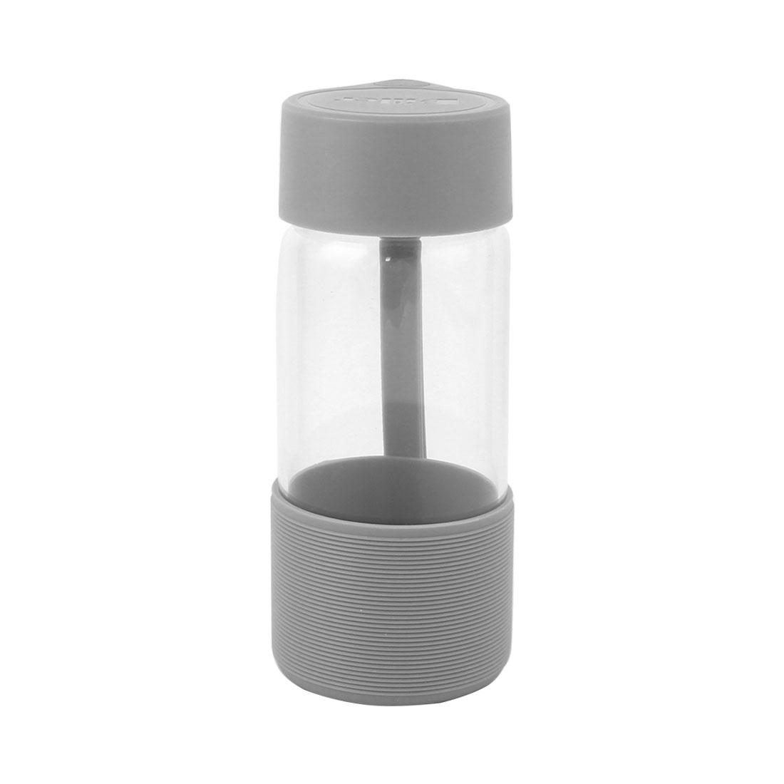 Student Travelling Camping Cup Portable Glass Water Bottle Mug Gray 300ml