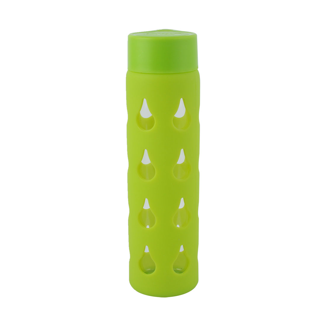 Silicone Sleeve Portable Camping Cup Drinking Mug Sports Water Bottle Green 400ml