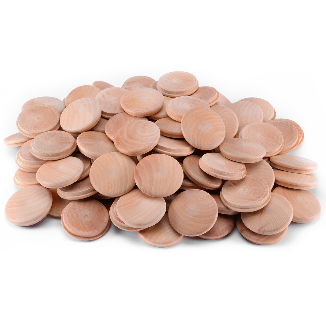 1-37/64-Inch Cherry Button Top Wood Plugs 100 Pcs