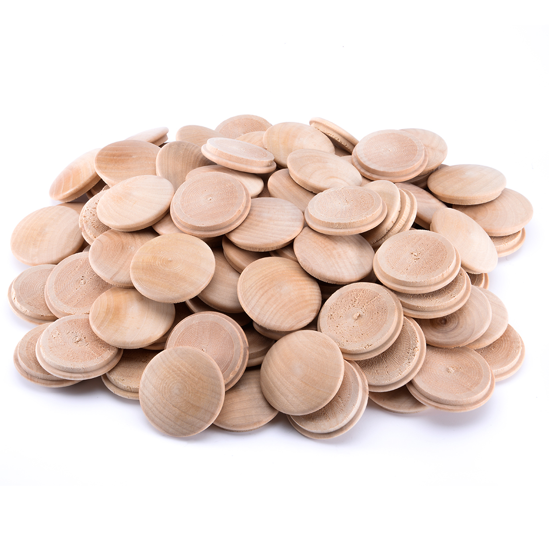 1-3/8 Inch Cherry Button Top Wood Plugs 100 Pcs