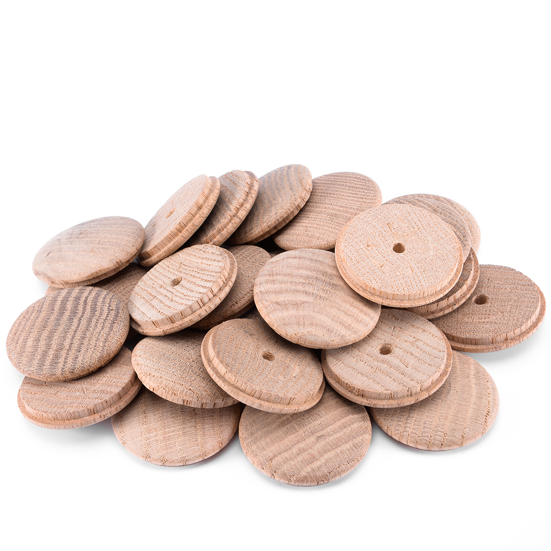 1-4/5-Inch Oak Button Top Wood Plugs 25 Pcs