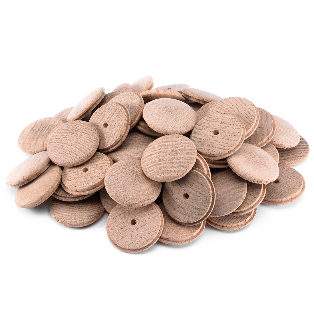 45mm 1-4/5 Inch Dia Red Oak Wood Furniture Button Top 60pcs
