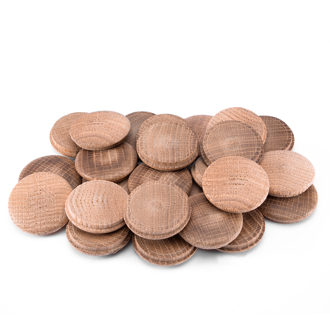 1-3/5-Inch Oak Button Top Wood Plugs 25 Pcs