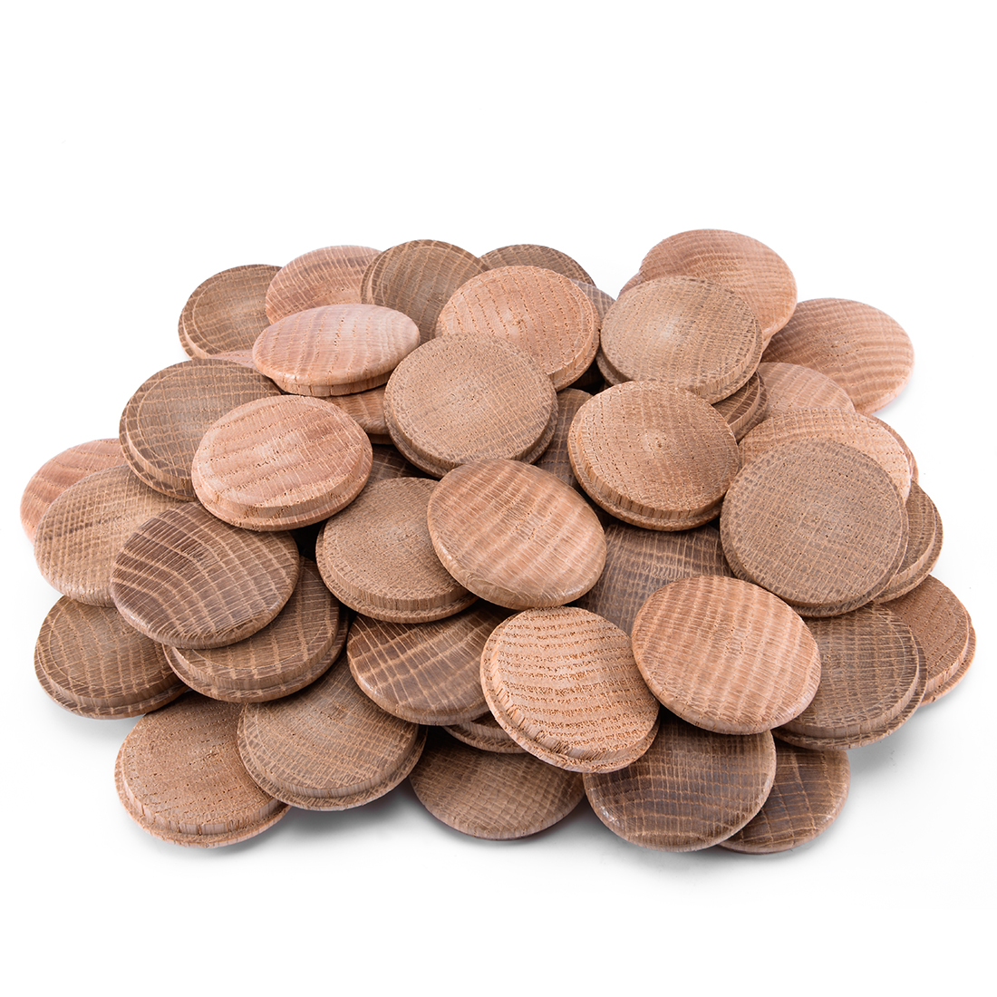 1-3/5-Inch Oak Button Top Wood Plugs 60 Pcs