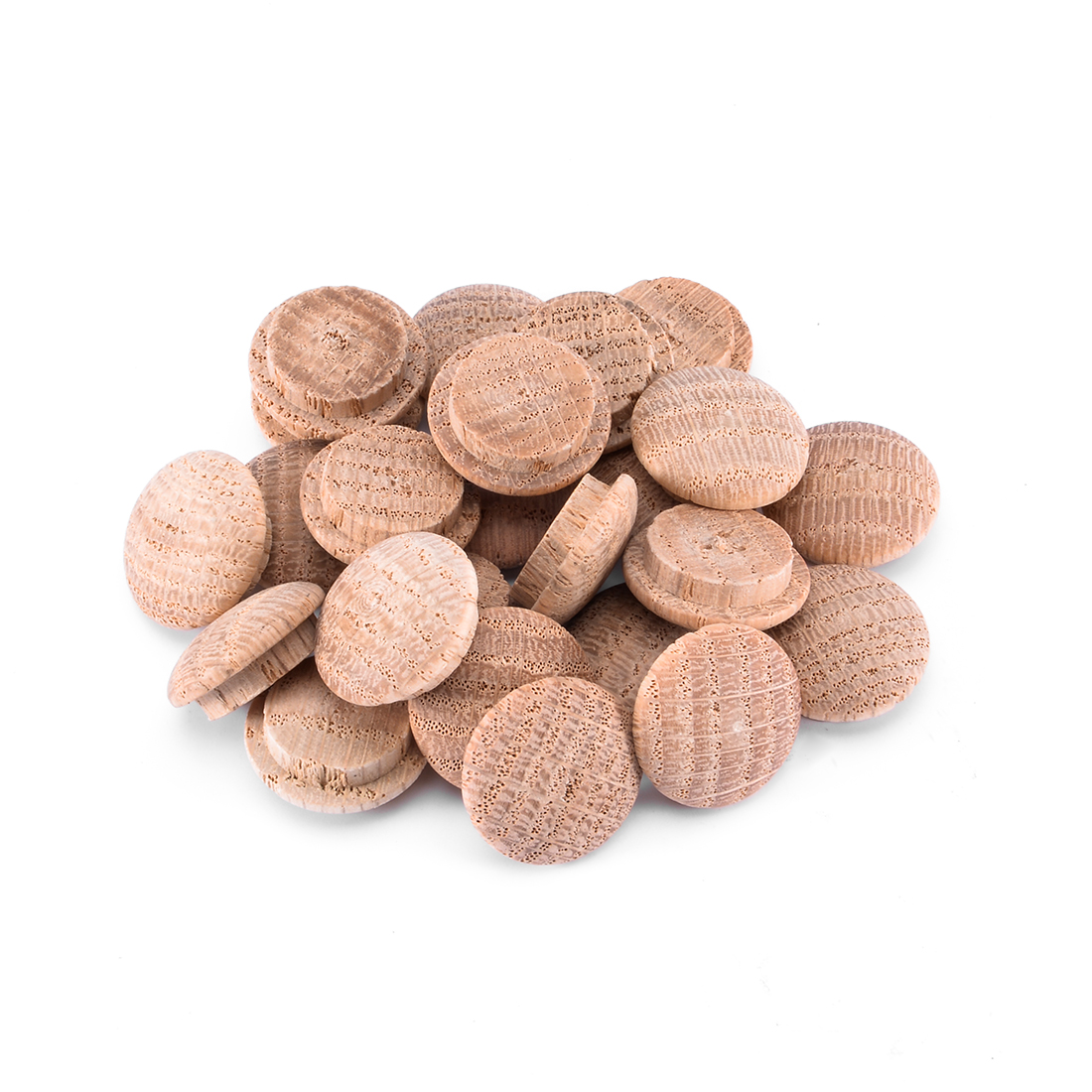 3/5-Inch Oak Button Top Wood Plugs 25 Pcs
