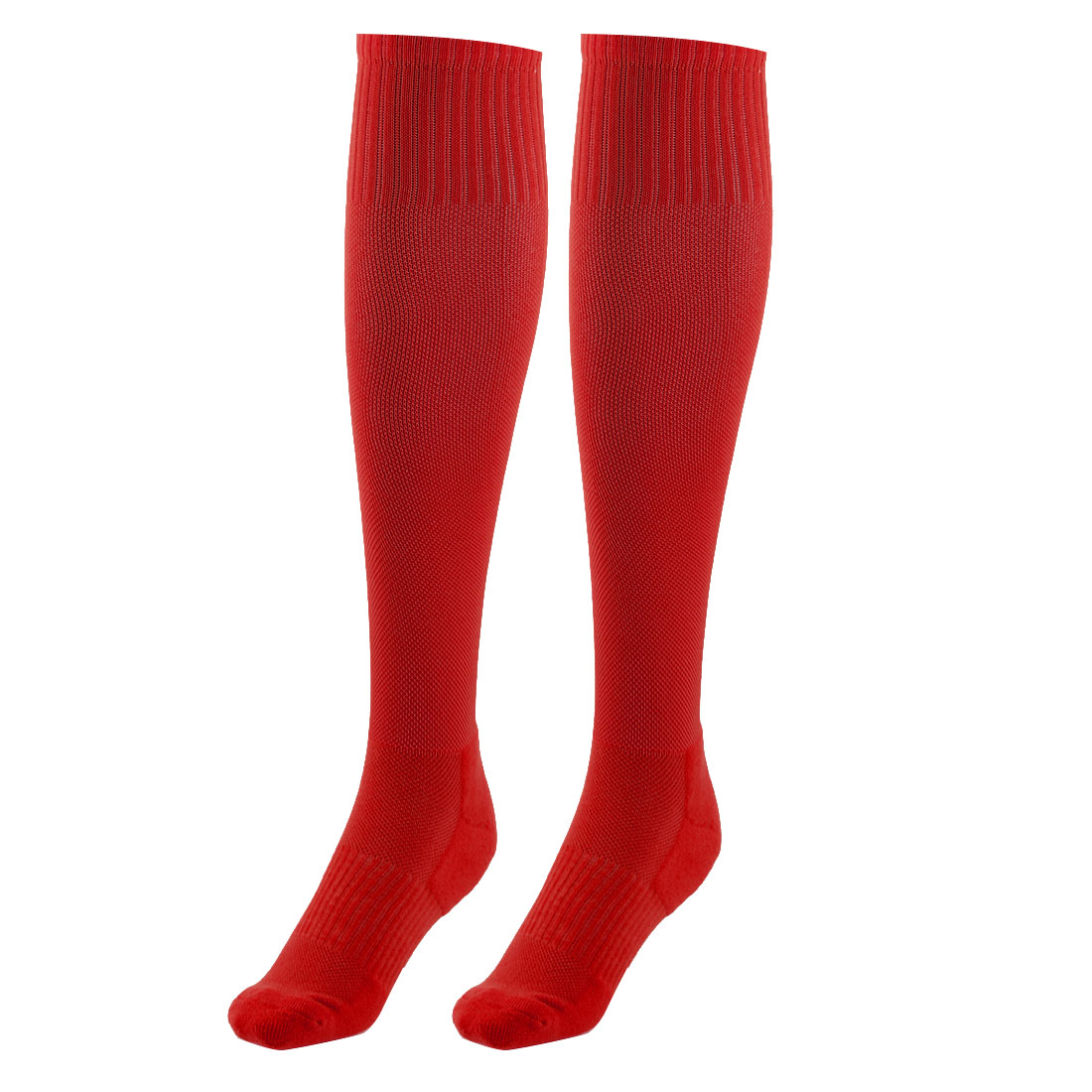 Adult Cotton Blends Knee High Style Hockey Rugby Soccer Football Sports Long Socks Red Pair