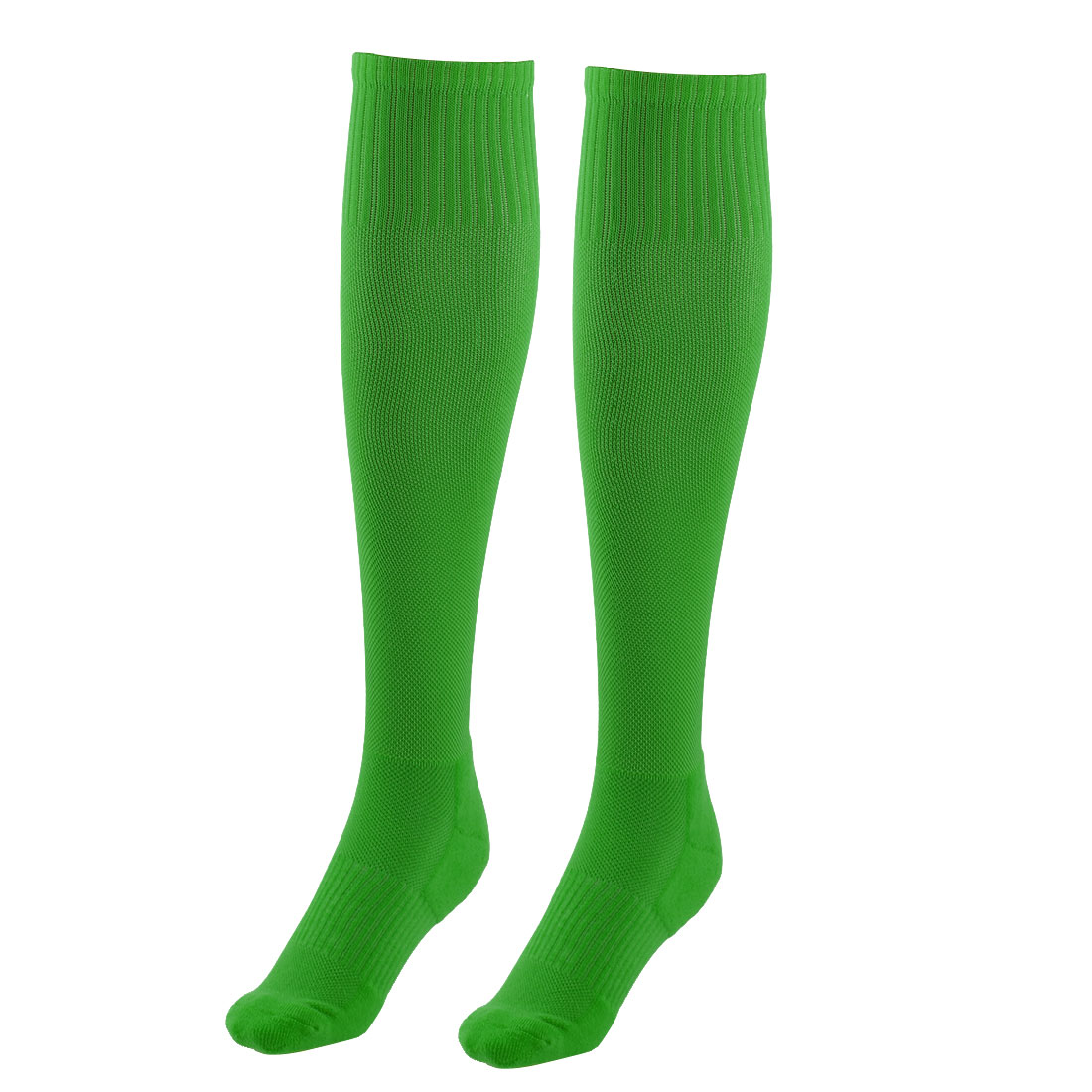 Adult Cotton Blends Knee High Style Hockey Rugby Soccer Football Sports Long Socks Green Pair