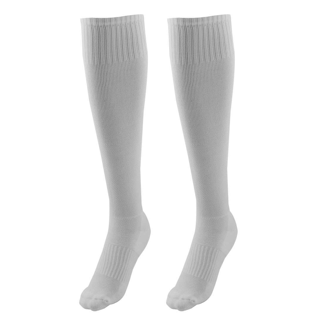 Adult Cotton Blends Knee High Style Hockey Rugby Soccer Football Sports Long Socks White Pair