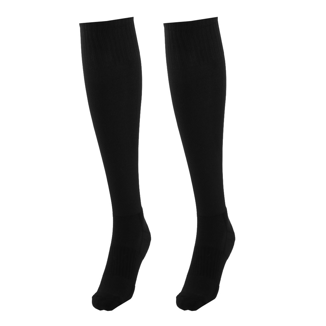 Adult Cotton Blends Knee High Style Hockey Rugby Soccer Football Sports Long Socks Black Pair