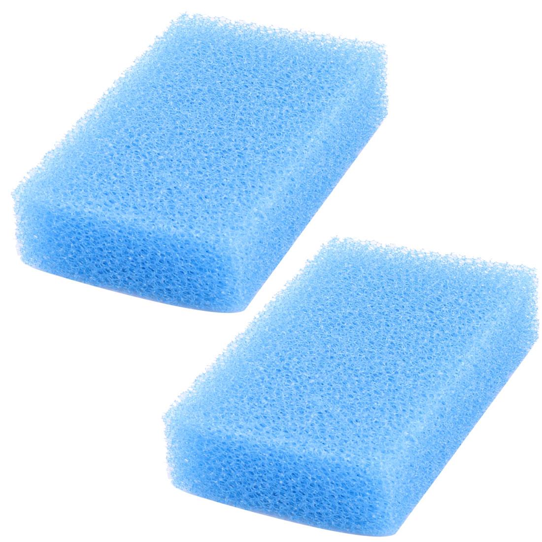 Home Kitchen Picnic Sponge Dish Bowl Plate Pan Pot Cleaning Washing Pad Blue 2pcs