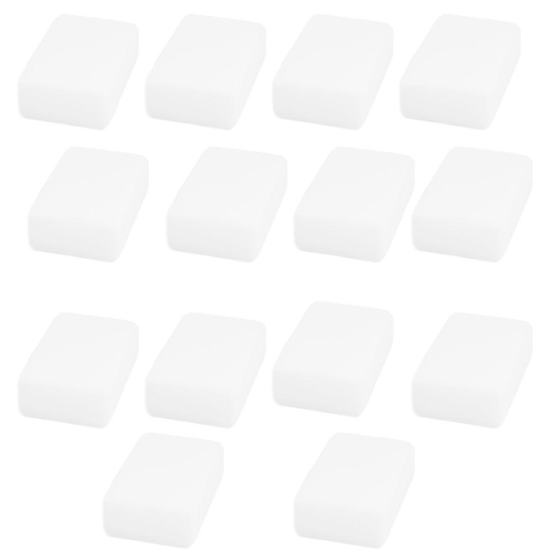 Household Kitchen Sponge Rectangle Pot Pan Plate Bowl Cleaning Pad White 14pcs