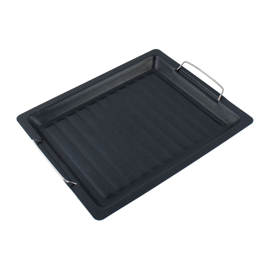 Outdoor Camping Picnic BBQ Barbecue Metal Grill Tool Drip Tray Roasting Pan