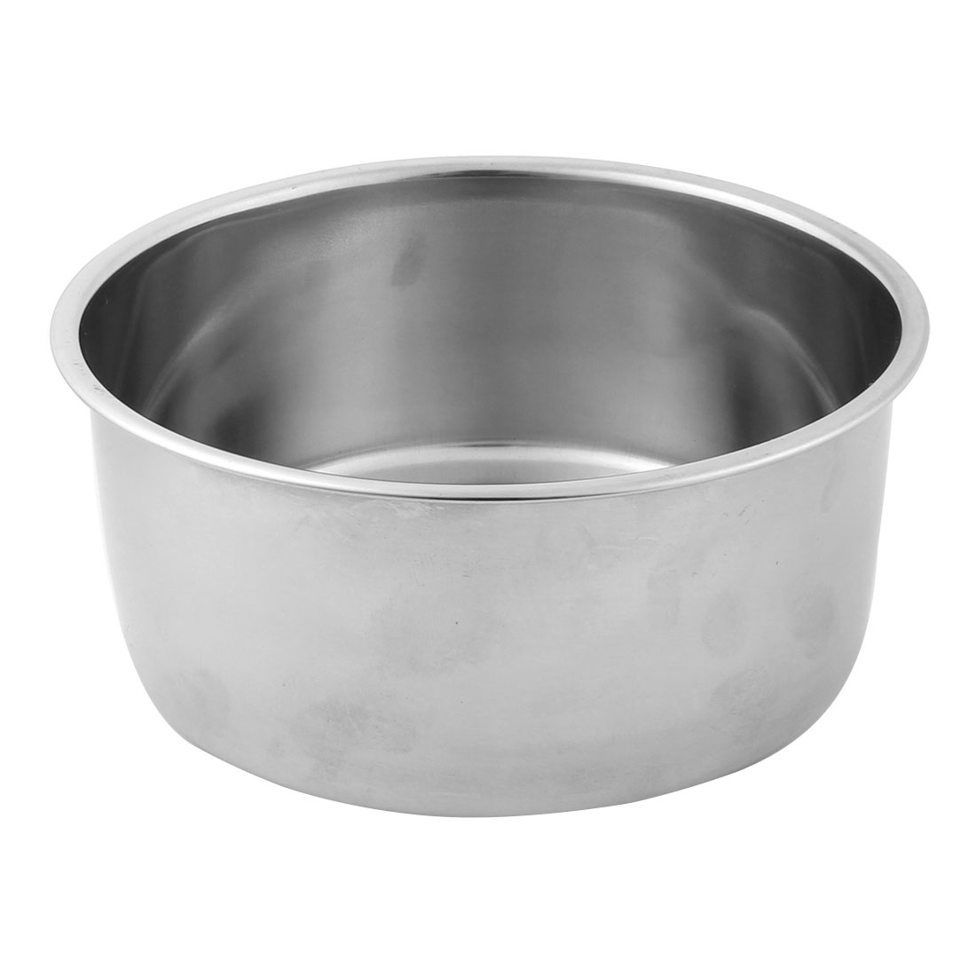 Outdoor Camping Picnic BBQ Stainless Steel Oil Soy Sauce Bowl Holder Silver Tone 13cm Dia