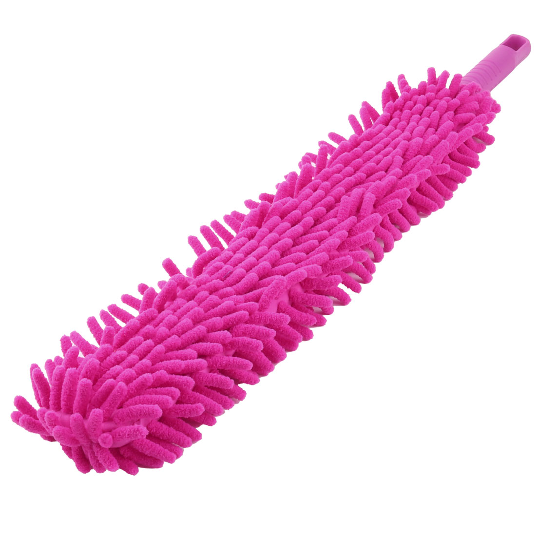 Household Desktop Bookshelf Car Chenille Detachable Sweep Clean Brush Duster Fuchsia