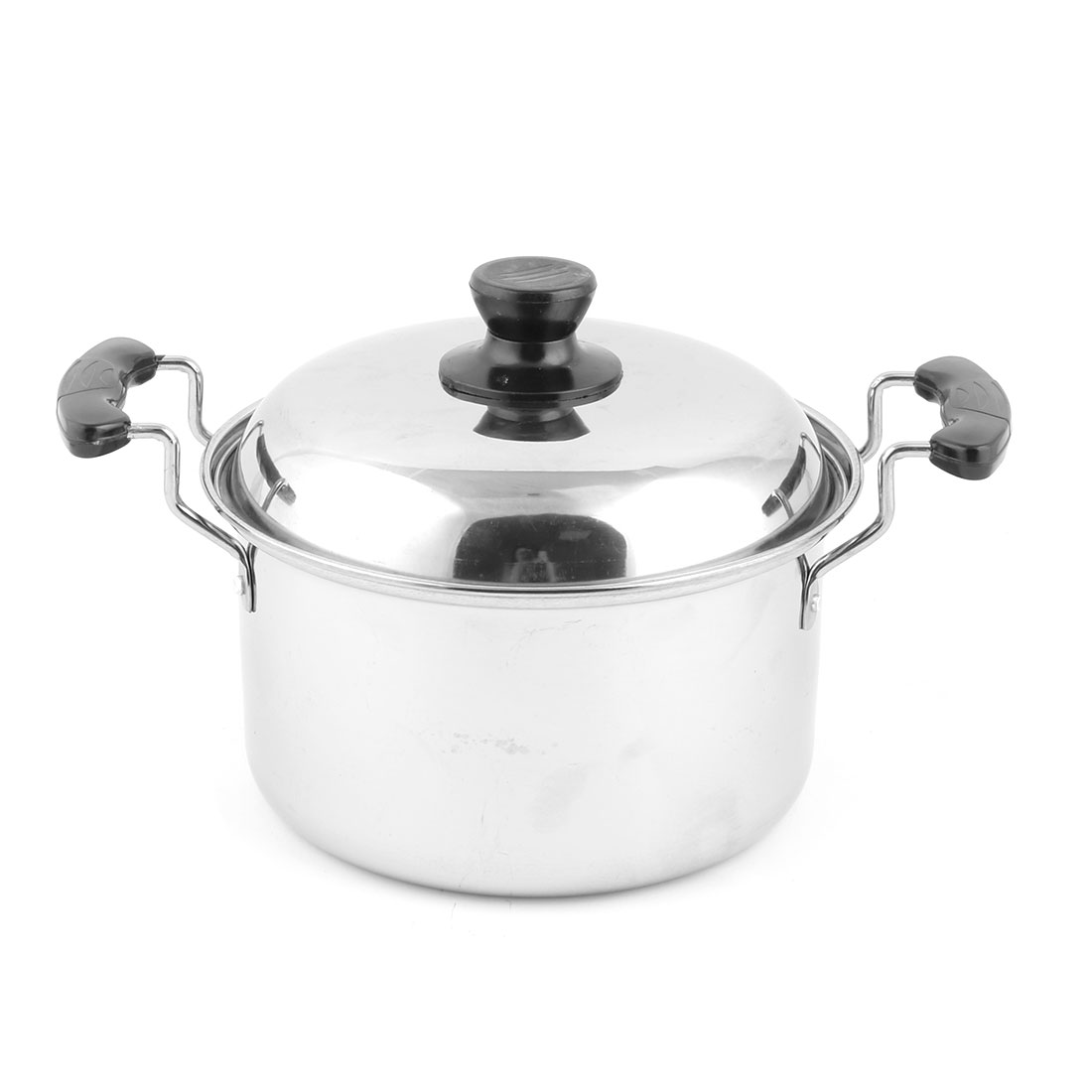Restaurant Plastic Grip Soup Porrige Cooking Tool Food Container Stockpot Silver Tone