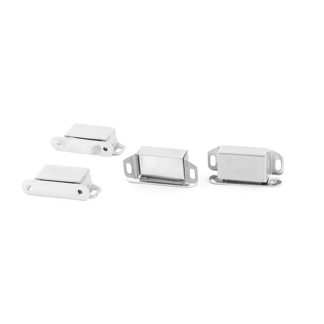 Home Stainless Steel Door Wardrobe Closet Stopper Holder Magnetic Catch Latch 4pcs