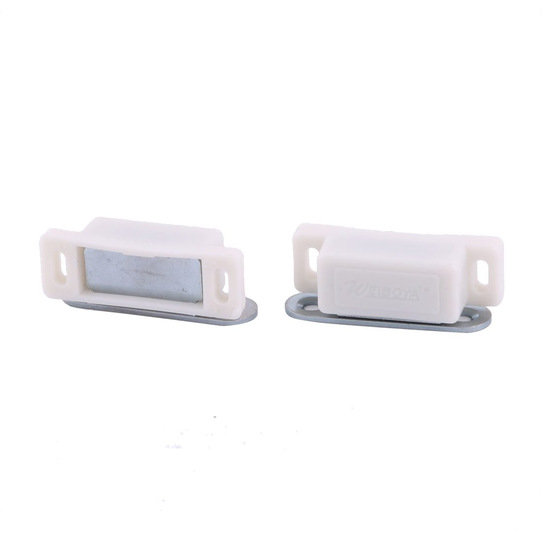 Home Room Plastic Gate Cupboard Cabinet Stopper Holder Magnetic Catch Latch 2pcs