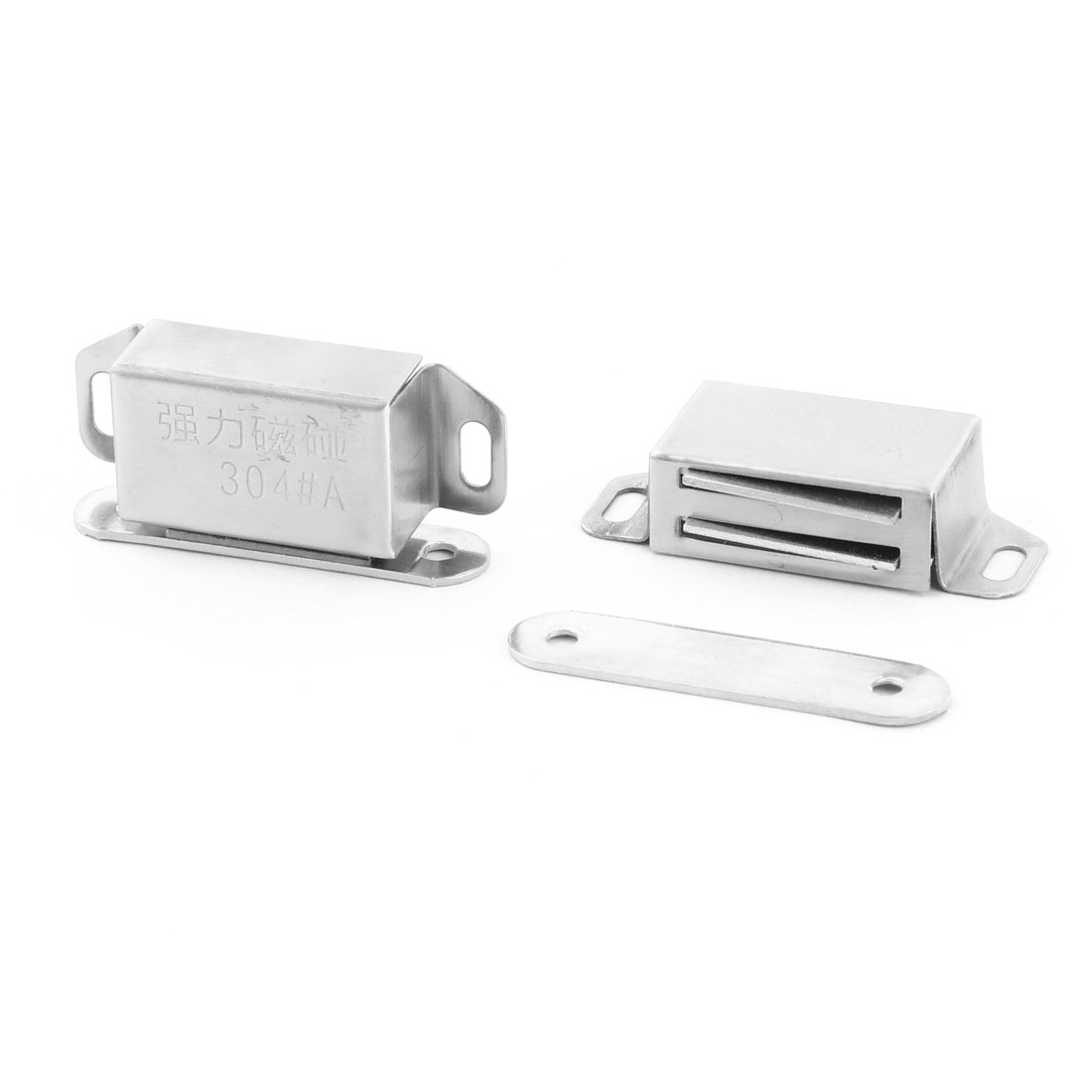Home Stainless Steel Door Wardrobe Closet Stopper Holder Magnetic Catch Latch 2pcs