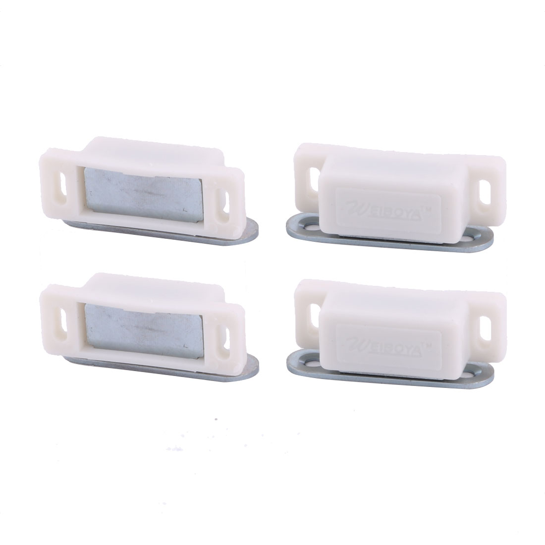 Home Room Plastic Gate Cupboard Cabinet Stopper Holder Magnetic Catch Latch 4pcs
