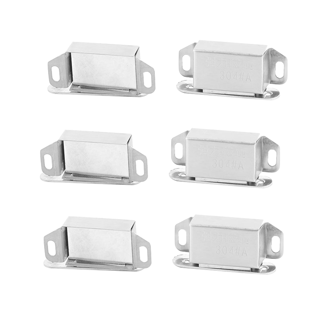 Home Stainless Steel Door Wardrobe Closet Stopper Holder Magnetic Catch Latch 6pcs
