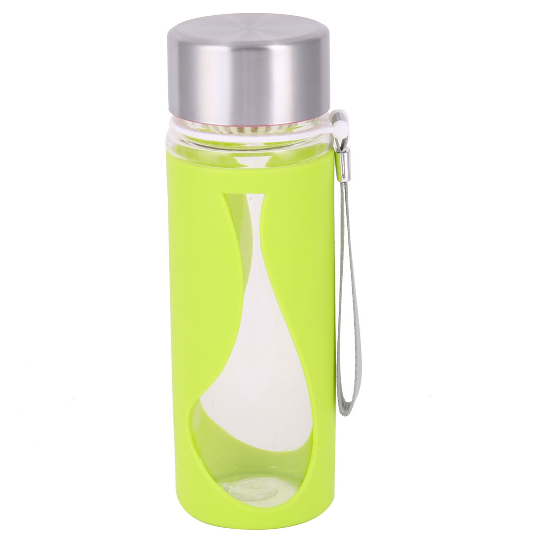 Household Outside Plastic Detachable Drinking Tea Water Cup Bottle Green 500ml