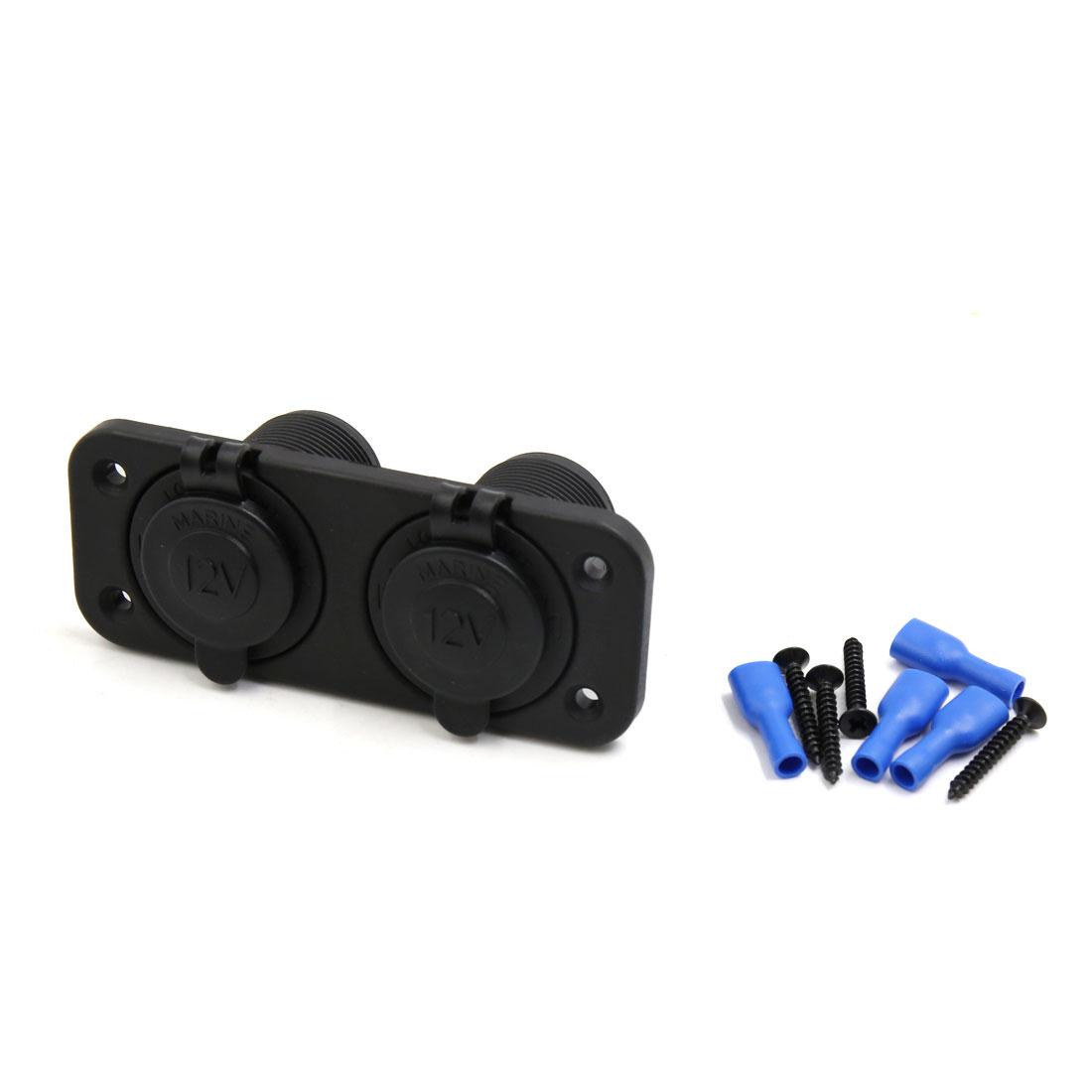 Car 2 in 1 Dual Cigarette Lighter Socket Splitter Power Adapter Outlet Black