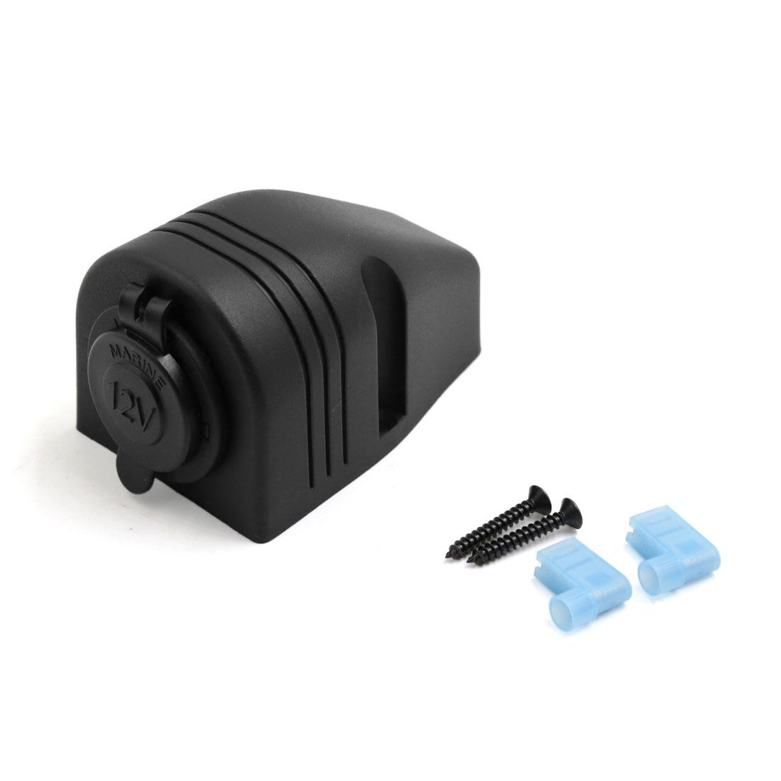 Black Plastic Tent Shape Cigarette Lighter Socket 12V for Auto Car Motorcycle