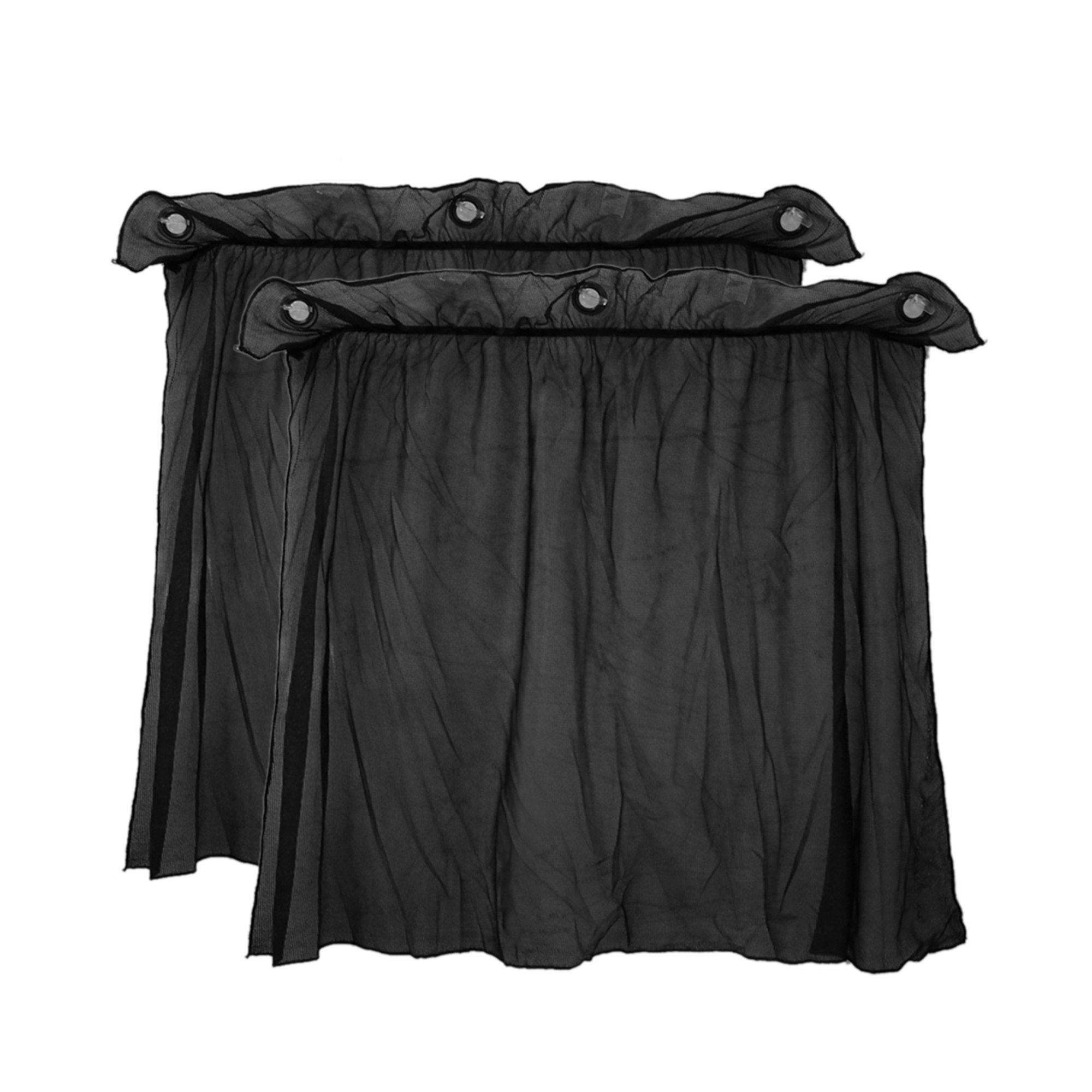2 Pcs 70 x 52cm Car Side Window SunShade Nylon Mesh Curtain UV Protection