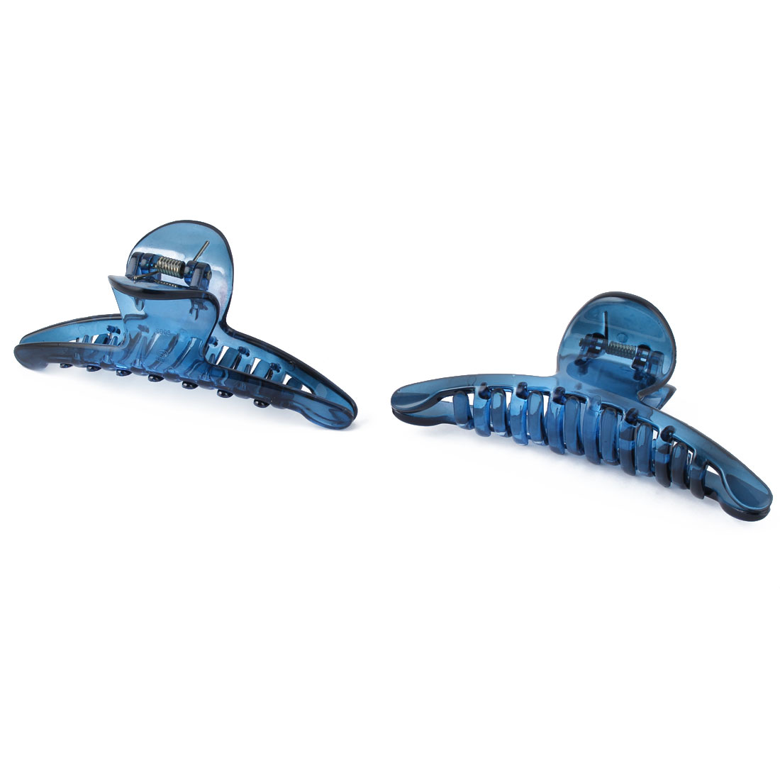Ladies Plastic Hair Claw Clip Clamp Barrette Hairdressing Blue 2pcs