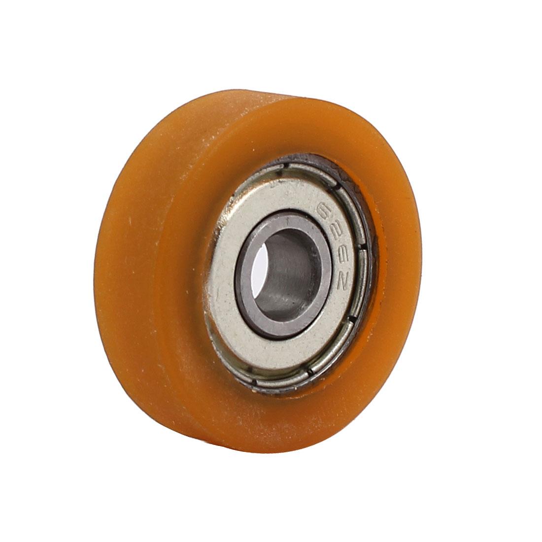 6mm x 26mm x 8mm PU Roller Bearing Pulley Sliding Converyor Wheel