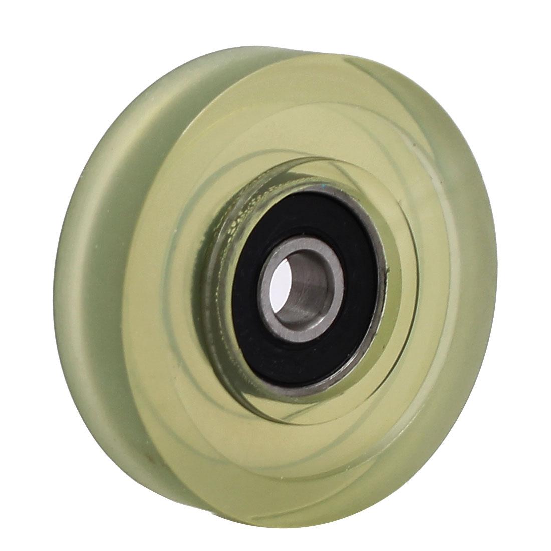 6mm x 40mm x 10mm PU Roller Bearing Pulley Sliding Converyor Wheel