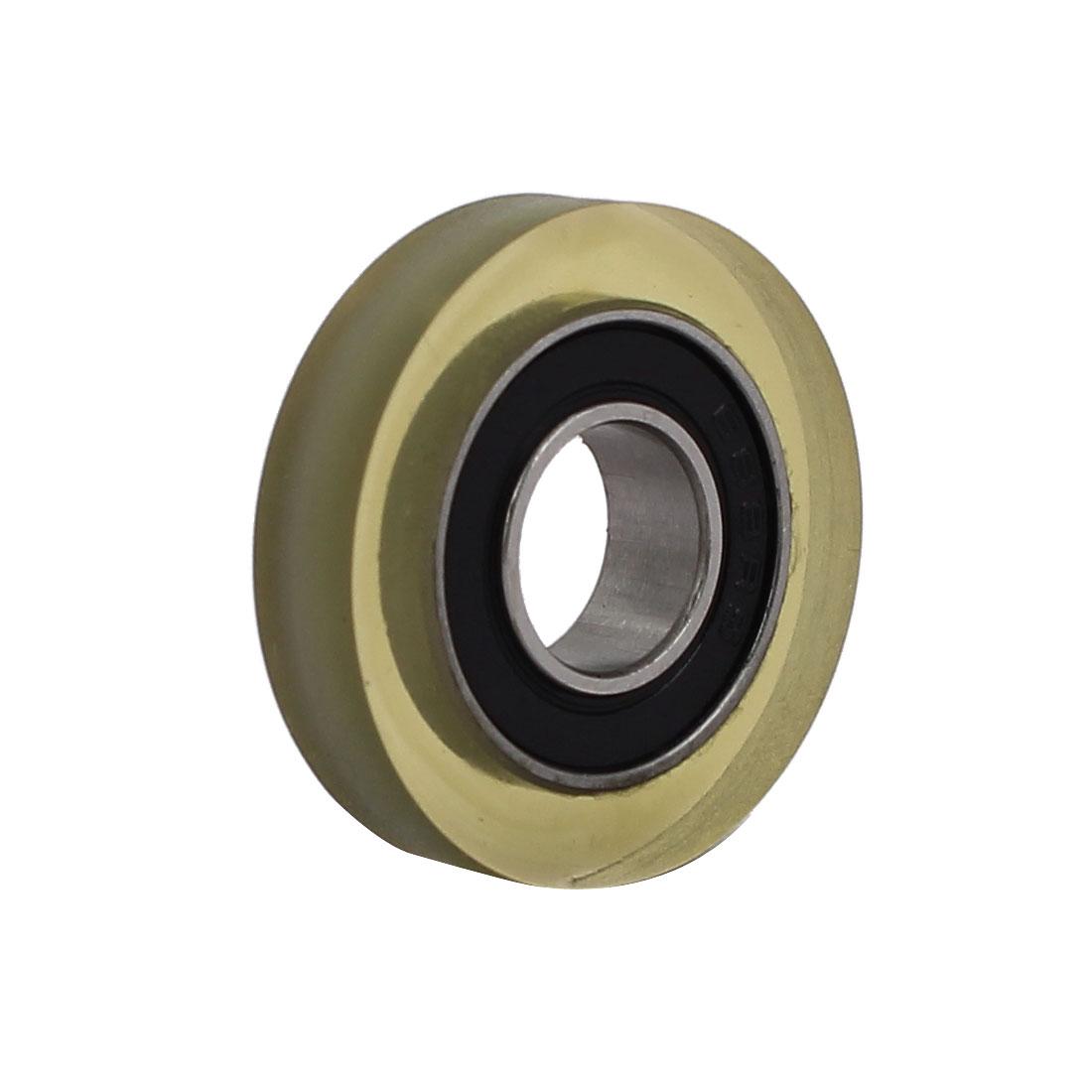 8mm x 22mm x 5mm PU Roller Bearing Pulley Sliding Converyor Wheel