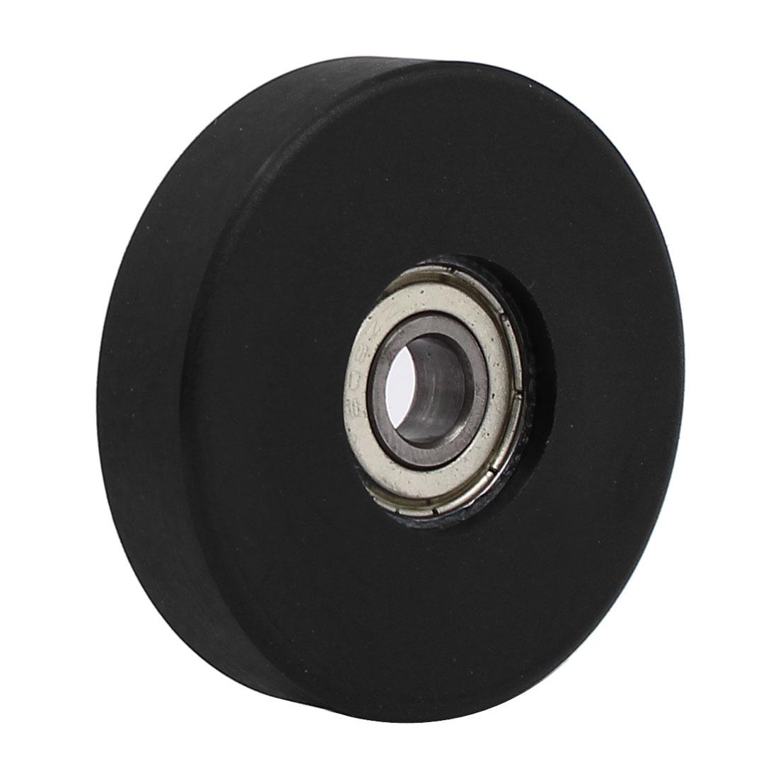 8mm x 50mm x 12mm PU Roller Bearing Pulley Sliding Converyor Wheel