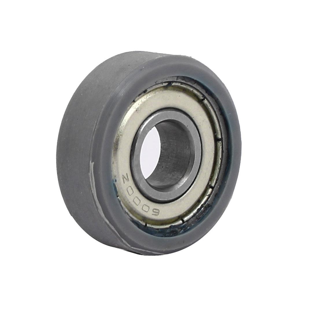 10mm x 30mm x 10mm PU Roller Bearing Pulley Sliding Converyor Wheel