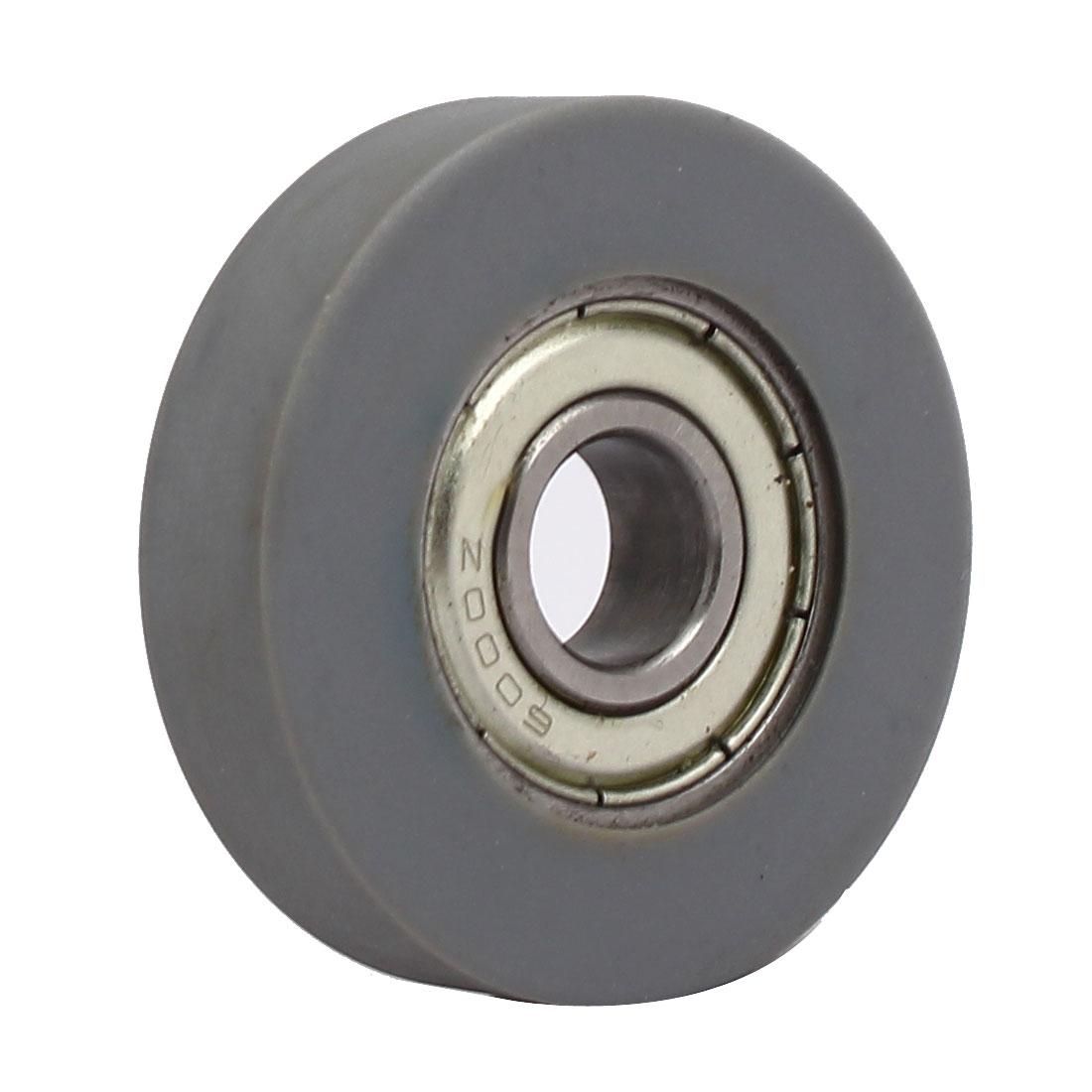 10mm x 40mm x 10mm PU Roller Bearing Pulley Sliding Conveyor Wheel