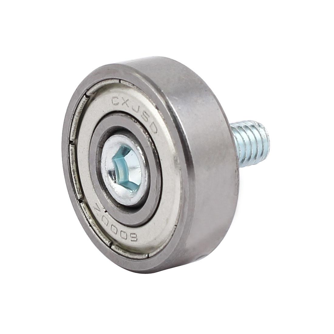 M6 x 12mm Screw Thread F Type Idler Bearing Pulley 14mm x 26mm x 8mm