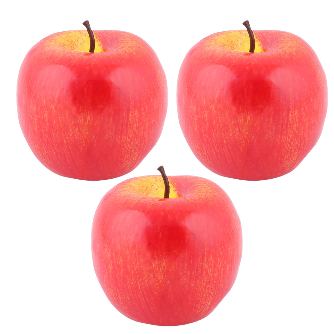 House Table Decor Foam Artificial Apple Designed Emulation Fruit Mold Red 3pcs