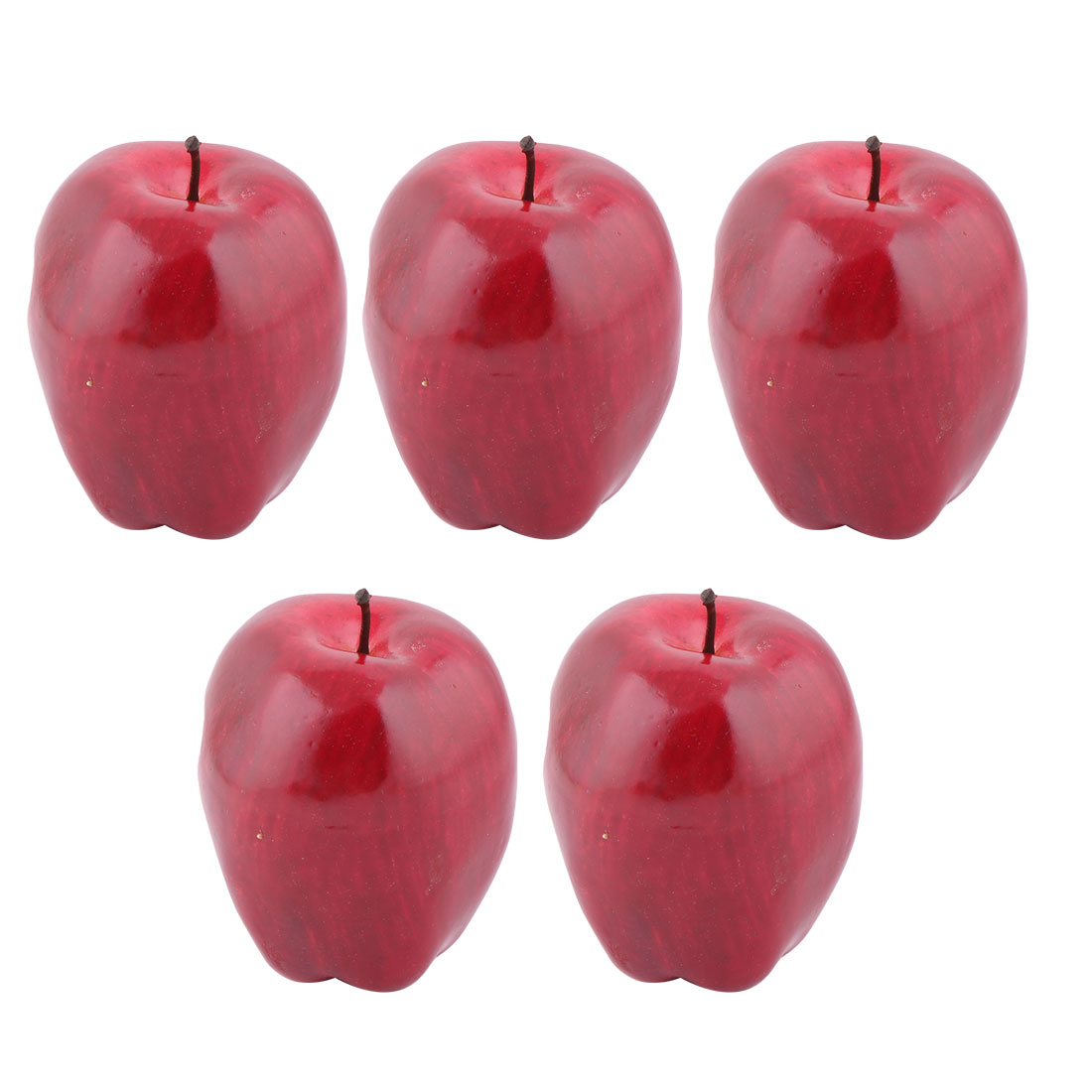 Family Table Ornament Foam Handmade Simulation Artificial Fruit Apple Red 5pcs