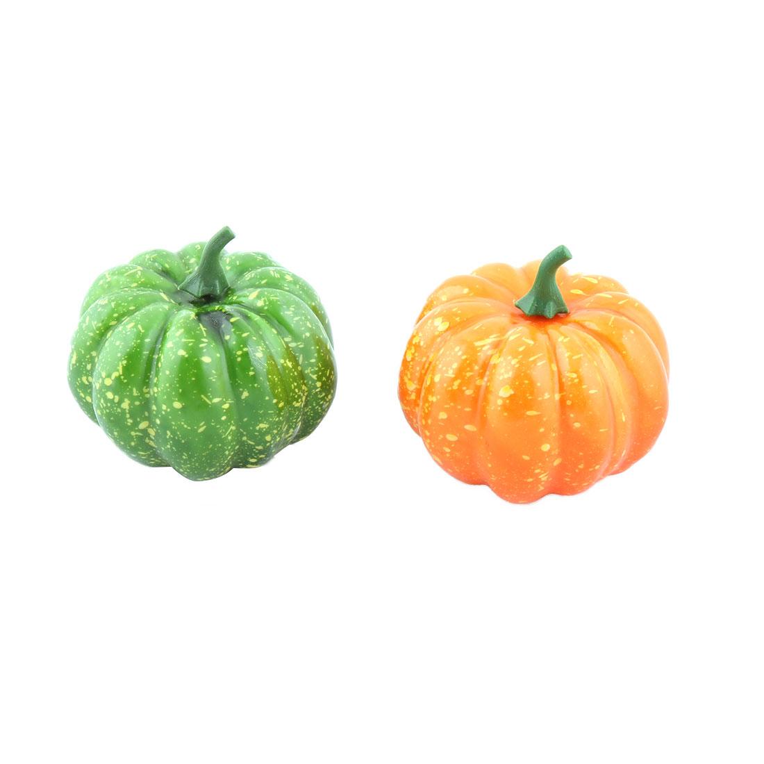 Family Plastic Desk Table Decoration Simulation Artificial Vegetable Pumpkin 2 Pcs