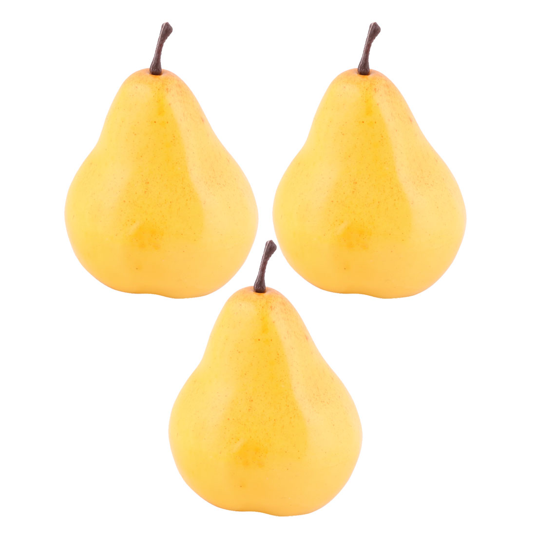 Household Table Decor Foam Handmade Simulation Artificial Fruit Pear Yellow 3pcs