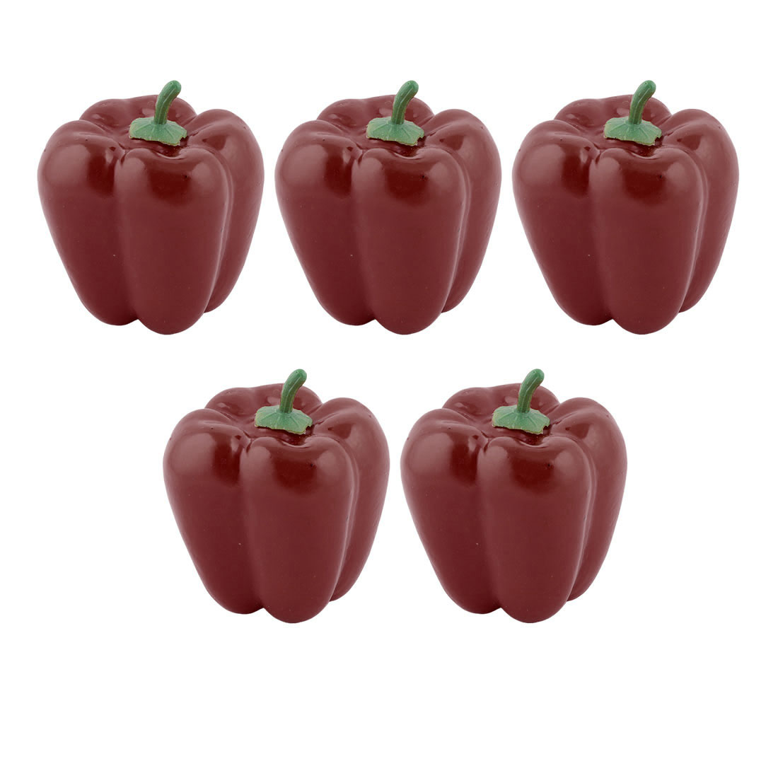 Home Plastic Desk Table Decoration Simulation Artificial Vegetable Sweet Pepper 5 Pcs