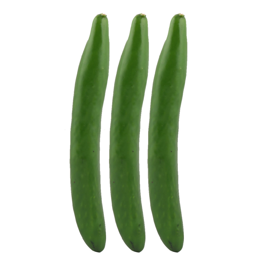 Photo Prop Decor Handmade Artificial Cucumber Design Vegetable Mold Green 3pcs