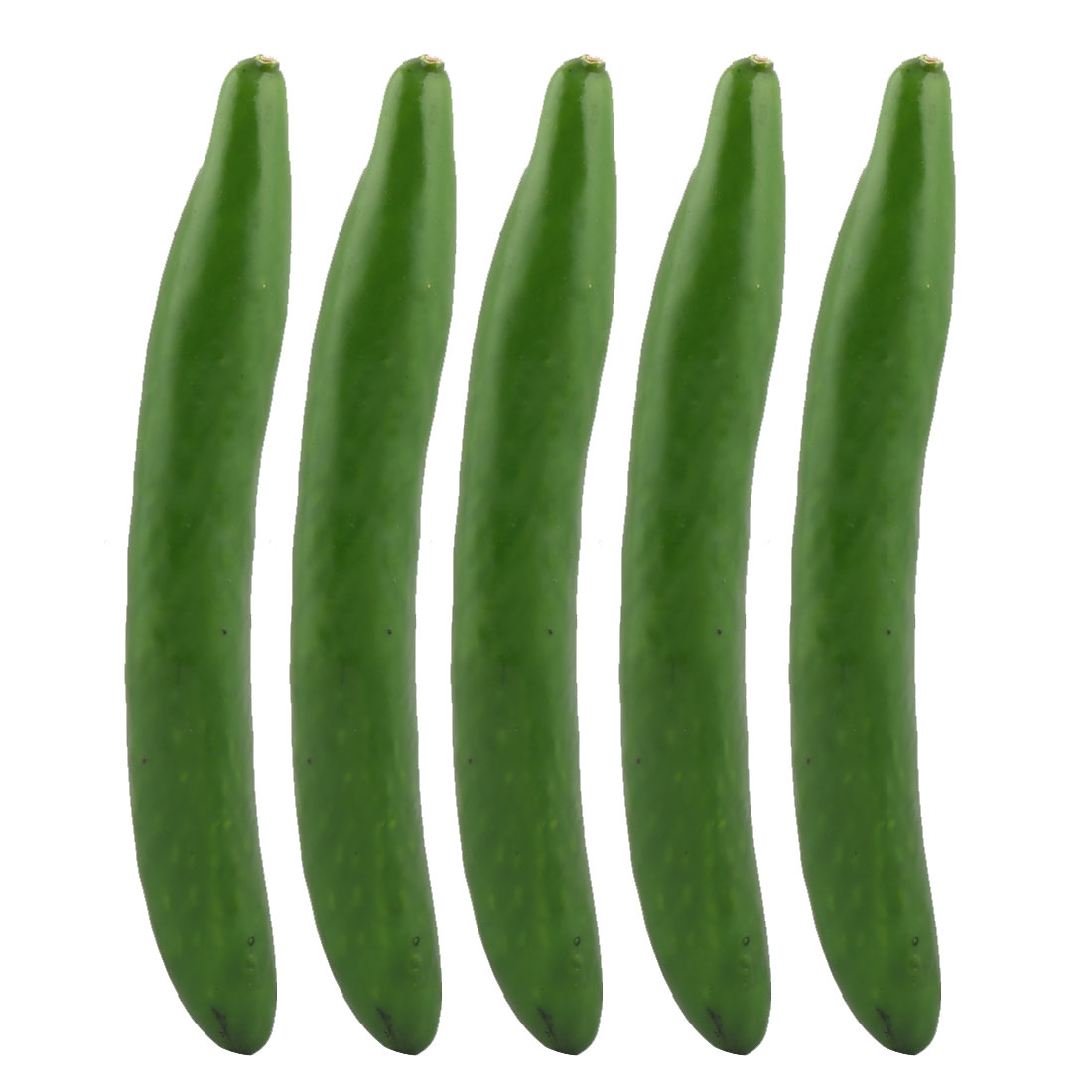 Photo Prop Decor Artificial Cucumber Designed Vegetable Mold 24.5cm Length 5pcs