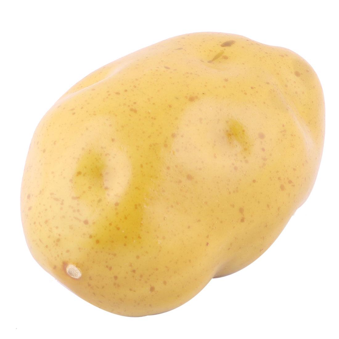Family Kitchen Decor Artificial Potato Designed Emulation Vegetable Light Brown