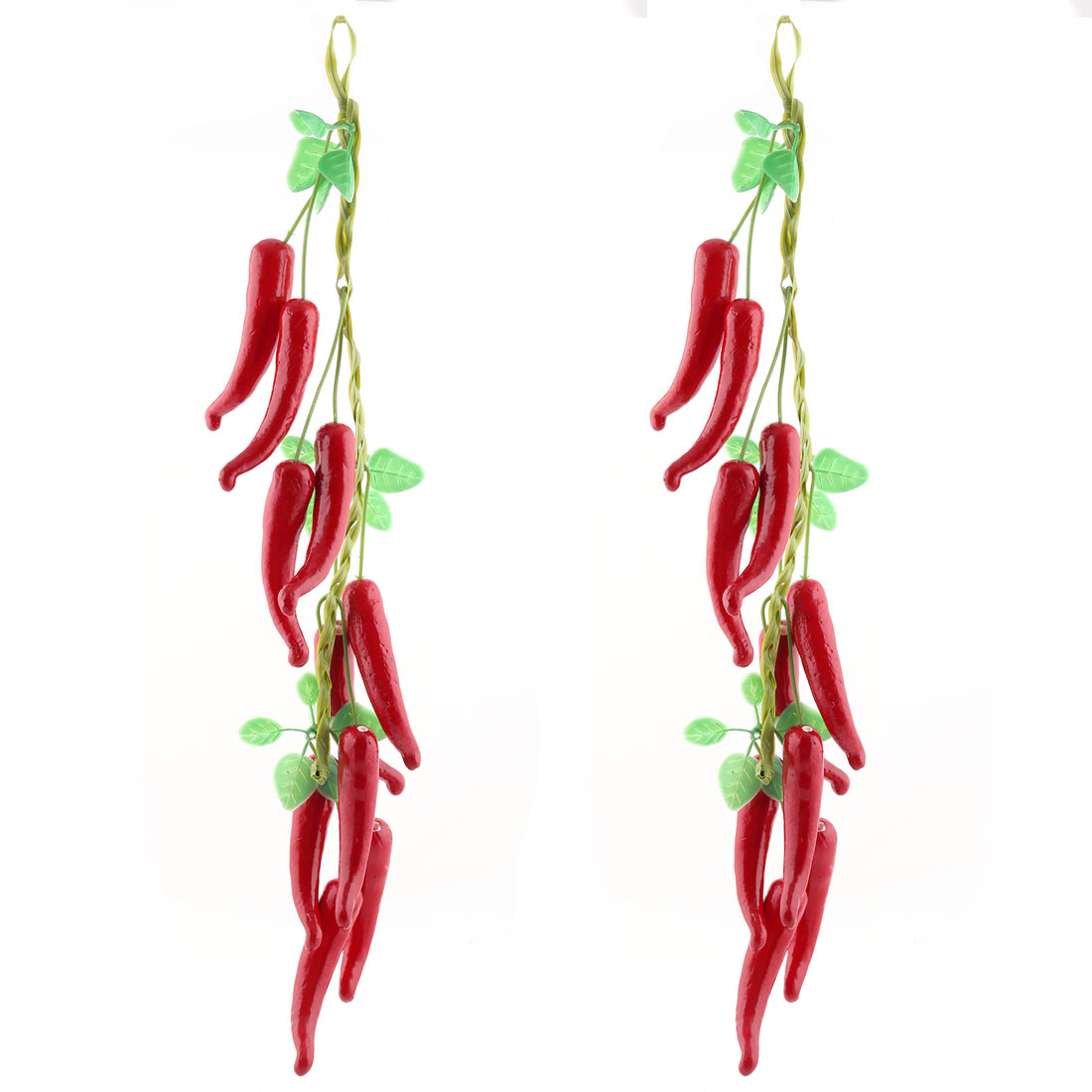 Home Plastic Desk Table Decoration Simulation Artificial Vegetable Chili Red 2 Pcs