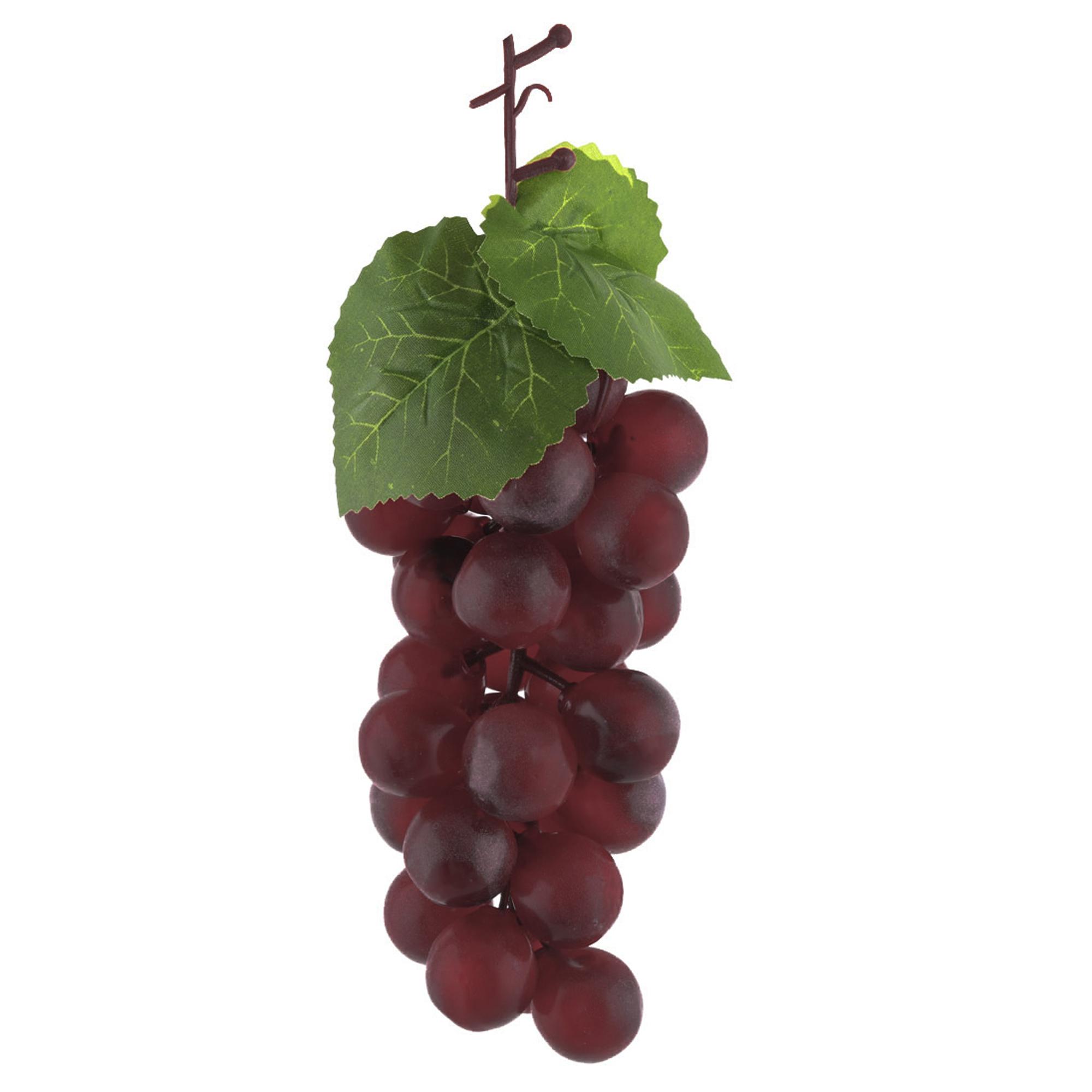 Plastic Photo Prop Decor Artificial Grape Designed Emulation Fruit Burgundy 4pcs