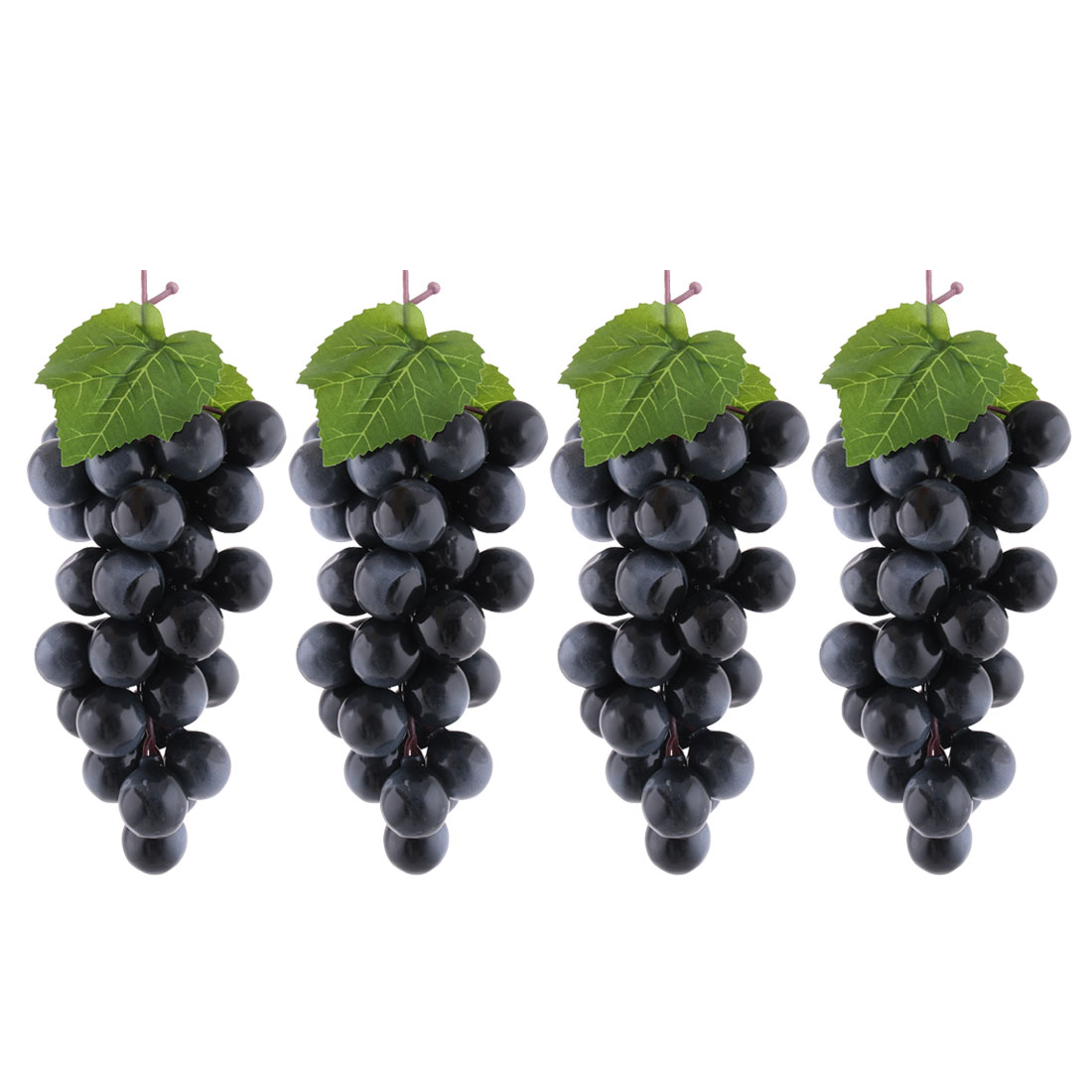 Home Party Ornament Plastic Manmade Simulation Artificial Fruit Grape Black 4pcs
