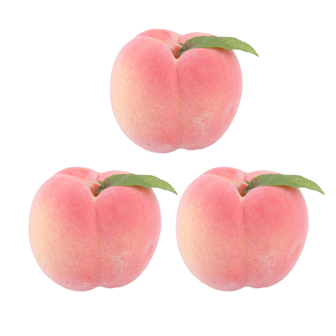 Household Office Decor Foam Lifelike Artificial Emulation Fruit Peach Mold Pink 3pcs