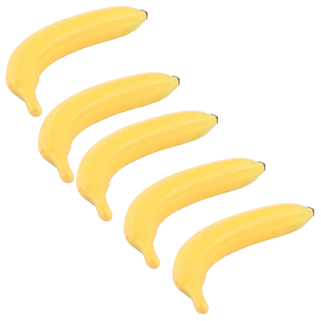Family Office Decor Foam Lifelike Artificial Emulation Fruit Banana Yellow 5pcs