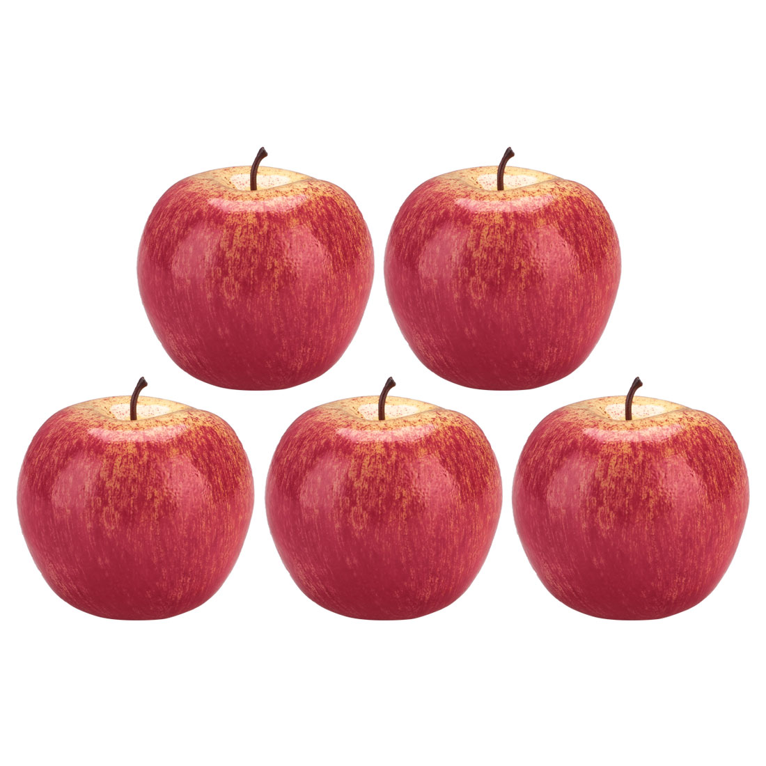 Home Table Ornament Foam Lifelike Simulation Artificial Fruit Apple Pink 5pcs